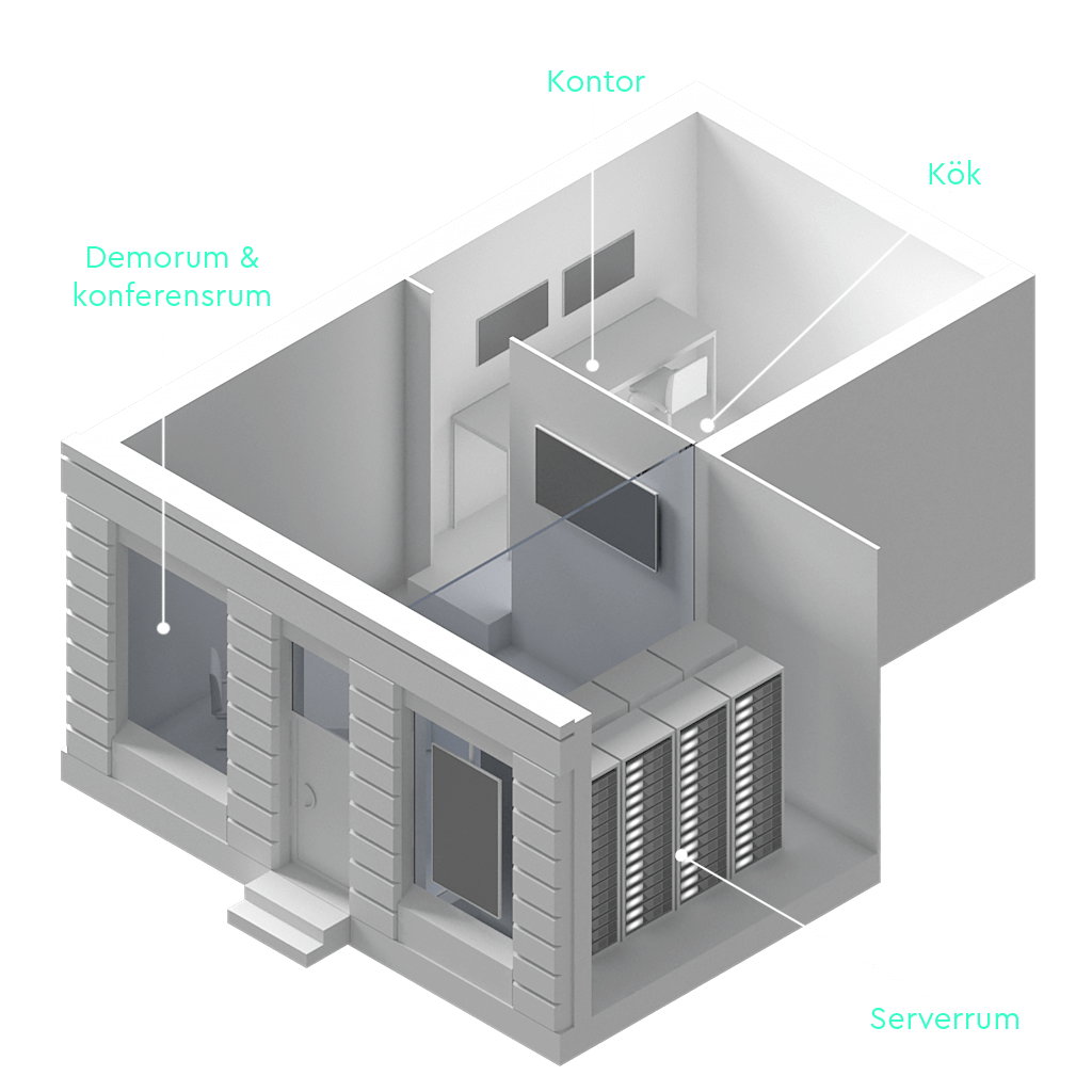 En översiktsbild på Layer & Mesh showroom